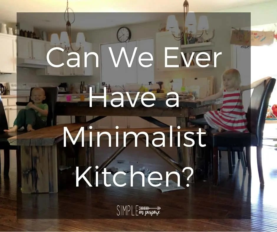 Can We Ever Have A Minimalist Kitchen?