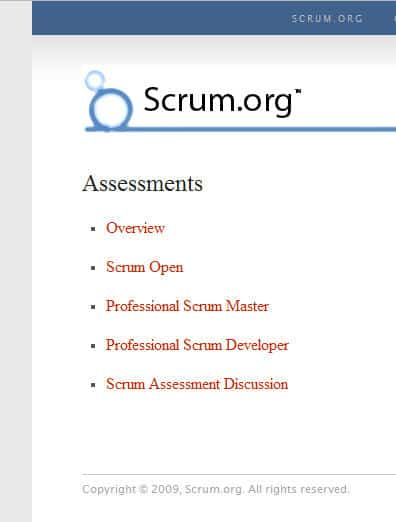 assessments screen Scrum For the Money...