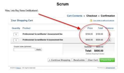 scrum prices Scrum For the Money...