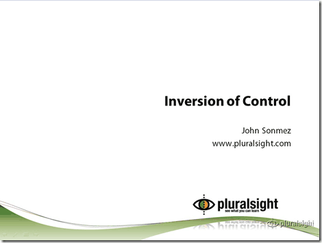 image Inversion of Control Course Published on Pluralsight