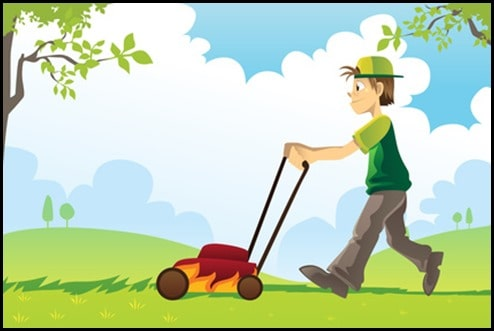 "mowinglawn thumb Bad Advice: ""Stop Working So Hard"""