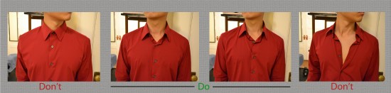 dos and donts buttons Dos & donts : buttoning your shirt