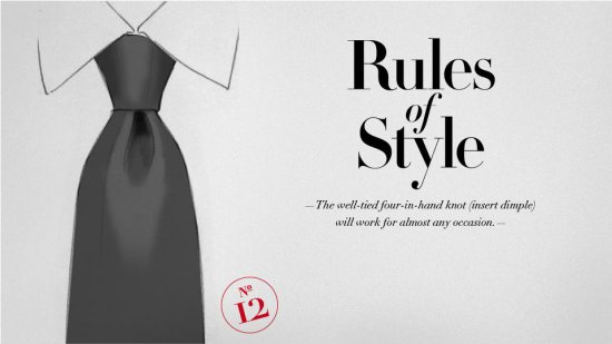 style note 12 Style rules   part 4