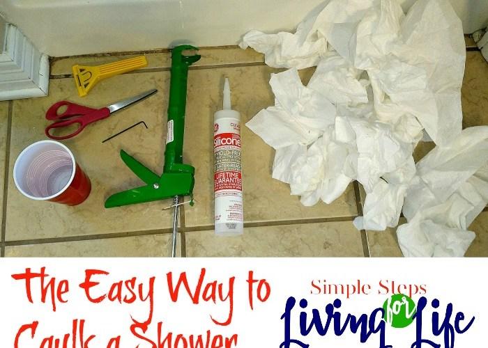 The Easy Way to Caulk a Shower