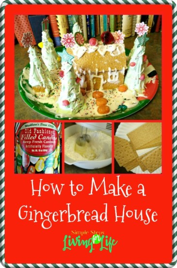 Simple way to make a Gingerbread House with graham crackers and royal icing.