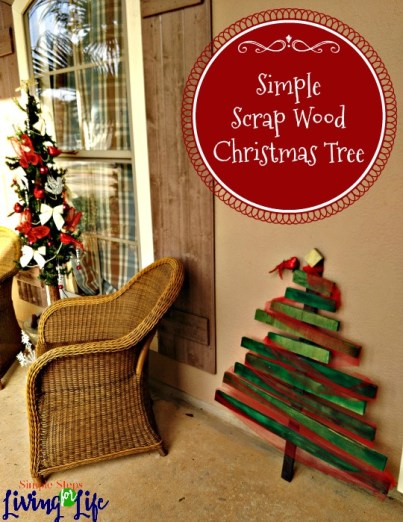 Make a cute scrap wood Christmas tree that will cost hardly anything.