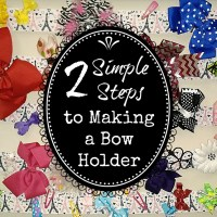 2 Simple Steps to Making a Bow Holder