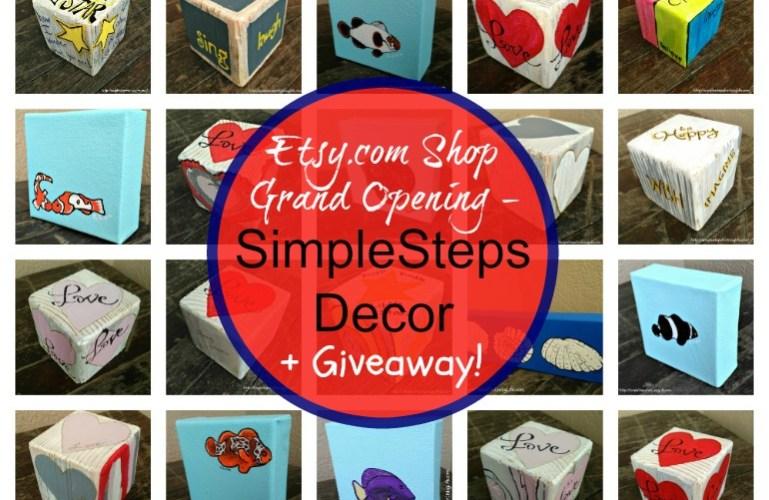 SimpleStepsDecor NEW etsy Shop +Giveaway!