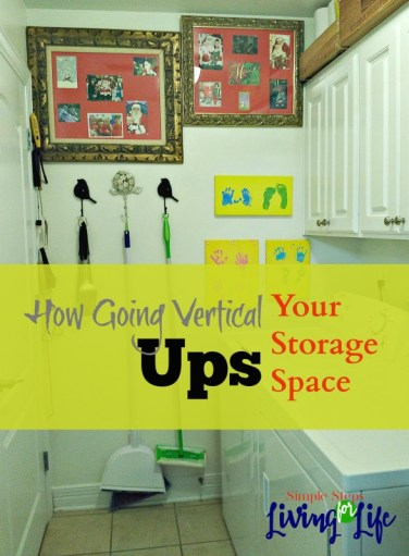 Going vertical to up your storage.