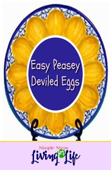 Easy Peasey Deviled Eggs