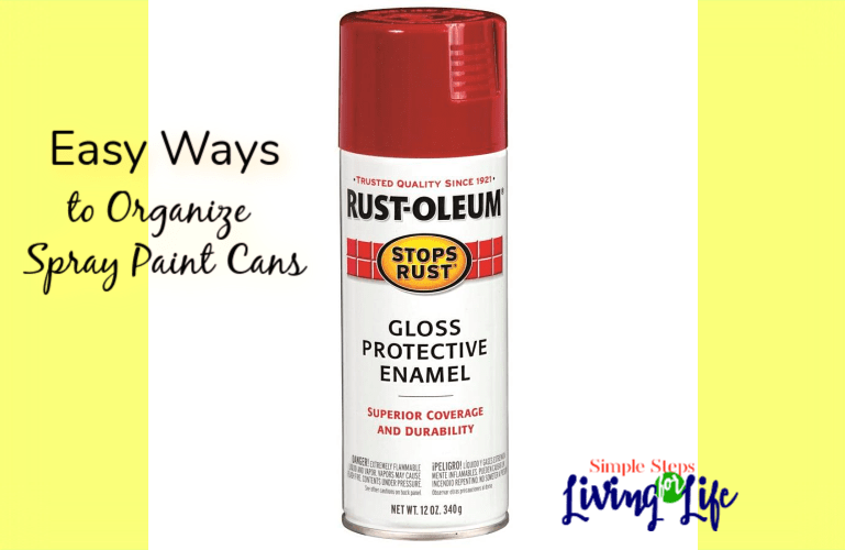 Easy Ways to Organize Spray Paint Cans