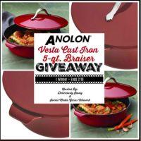 Anolon Vesta Cast Iron 5Qt Braiser Giveaway Ends 2/18