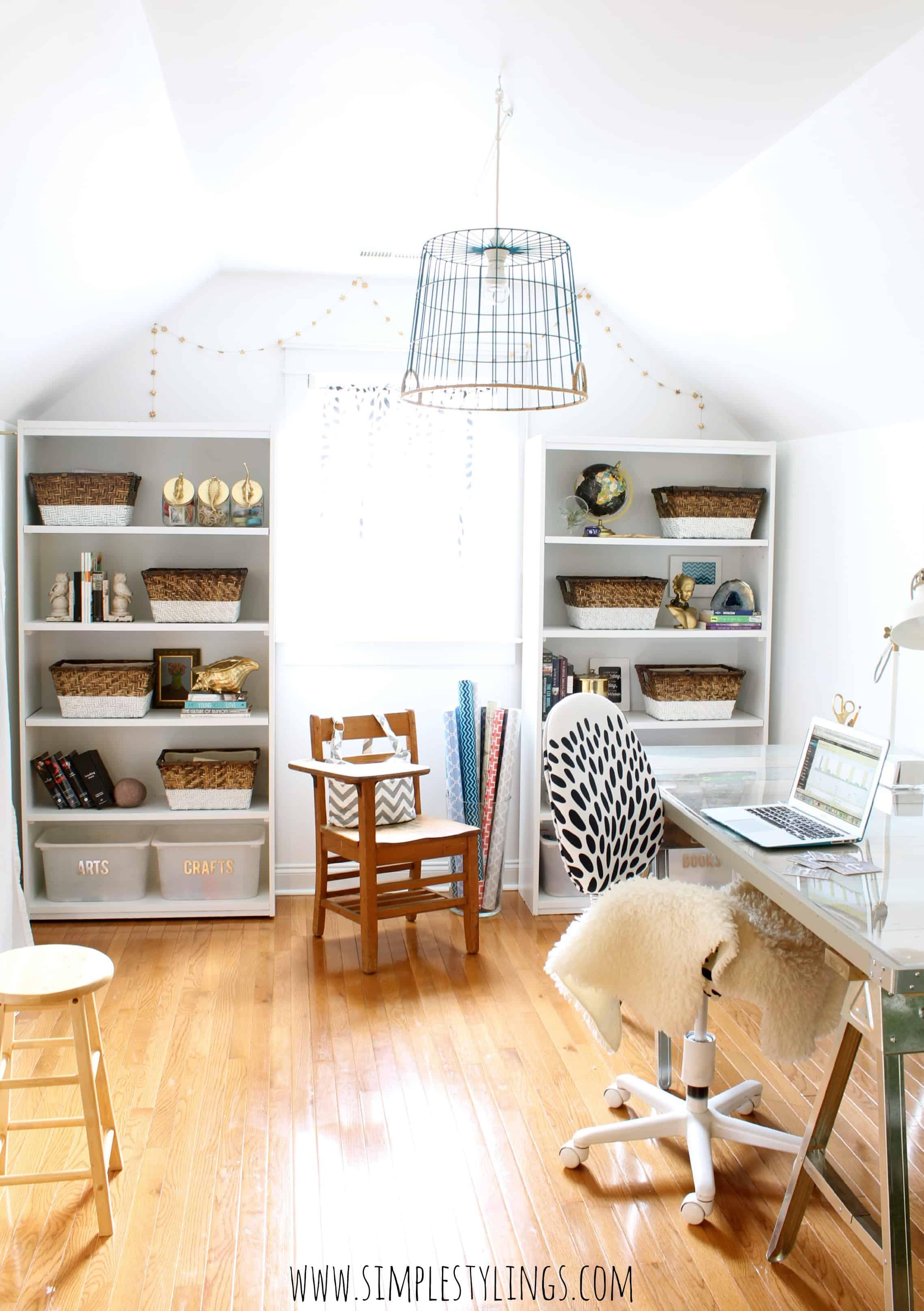 Diy faux demijohn bottle simple stylings for Simple home office ideas