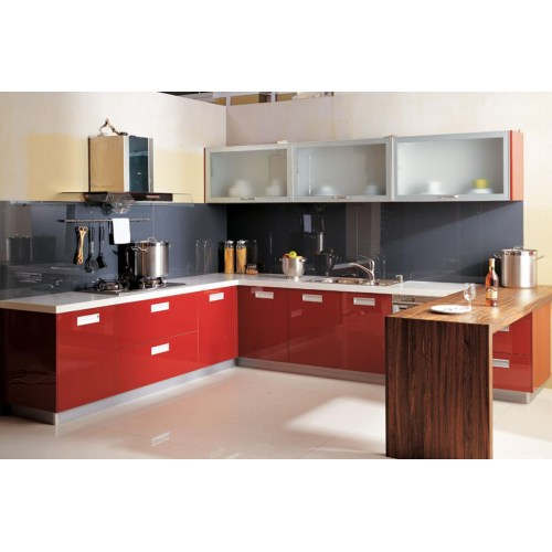Medium Crop Of Red Kitchen Cabinets