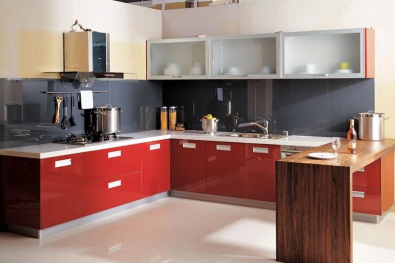 Large Of Red Kitchen Cabinets