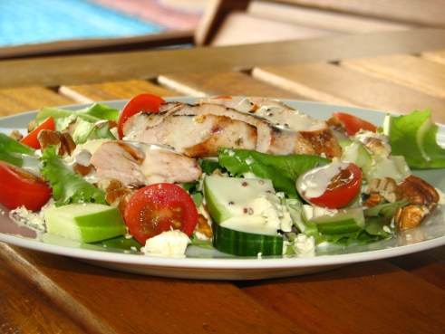 Sweet & Spicy Chicken on Sort of Waldorf Salad