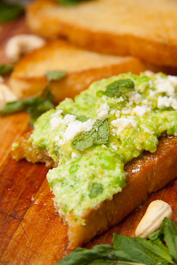 Pea and Cashew Pesto with Mint & Feta Cheese - Simply Delicious
