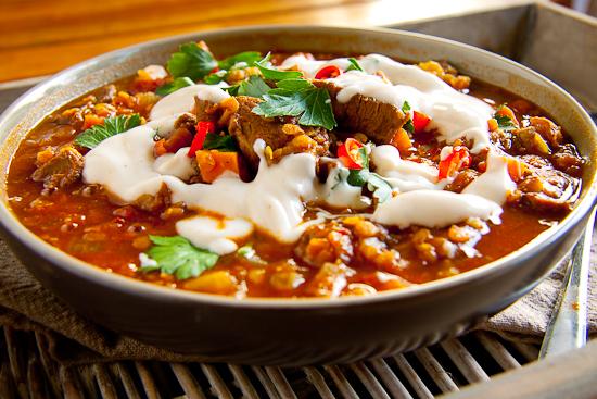 Spicy Lamb & Lentil Soup