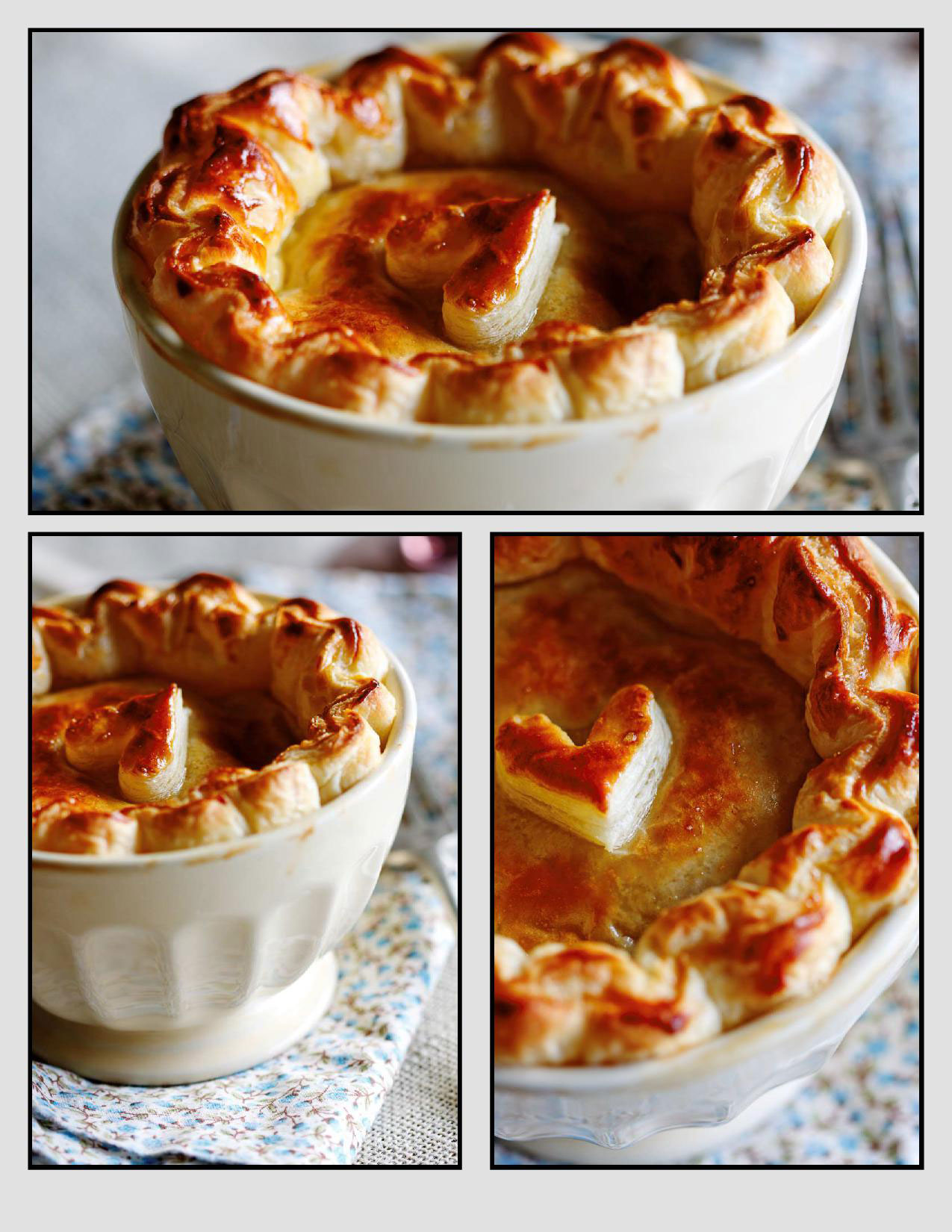 how to make chicken pie with puff pastry