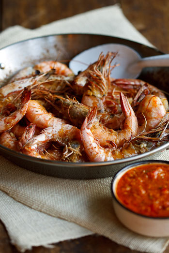 oven-roasted prawns with peri-peri