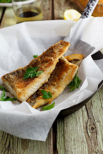 Pan fried fish with lemon cream sauce capers simply for Sauce for fried fish