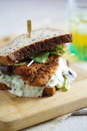 Crusted chicken sandwich