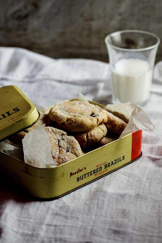 White chocolate, cranberry and macadamia cookies