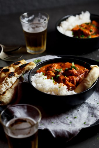 Butter chicken with Naan