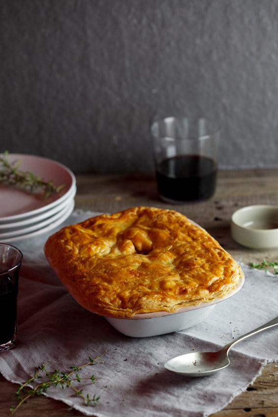 Lamb shank pie