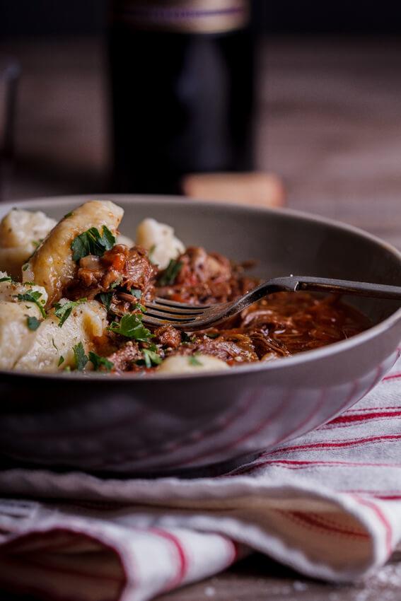 Lamb ragu with cauliflower gnocchi