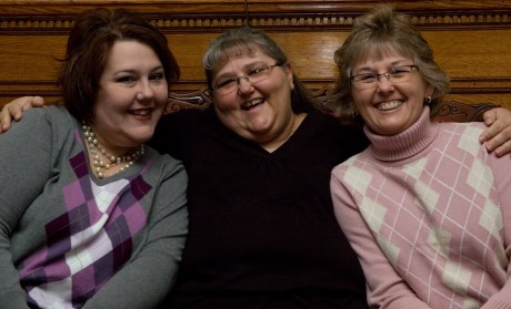 The three sisters: me, Jaquita and Kathy. (Photo by Lori Ostling)