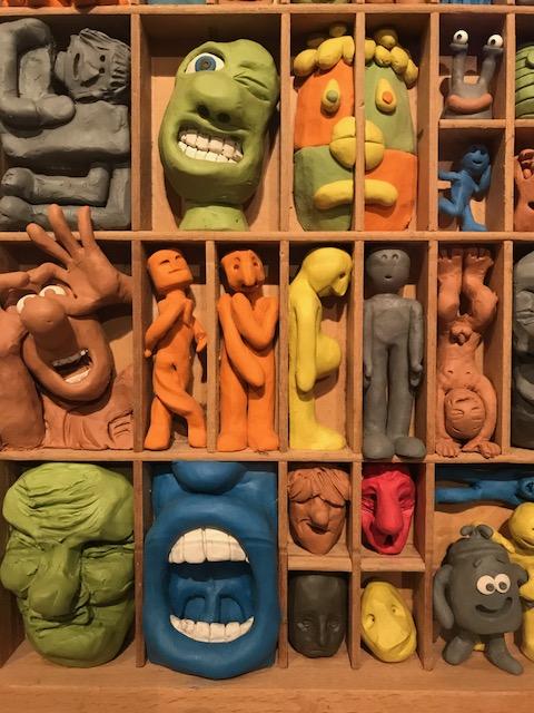 Aardman plasticine models