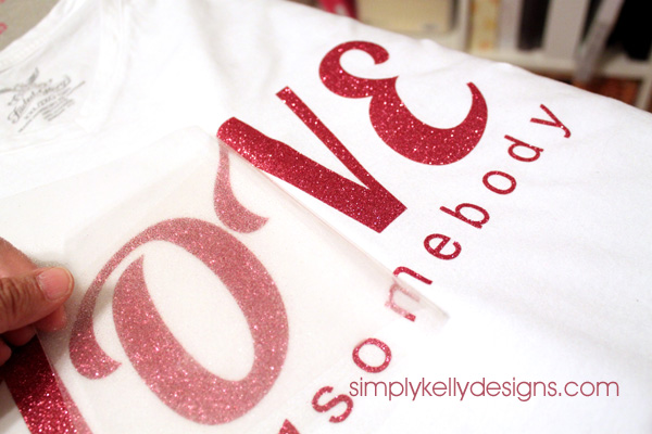 Glitter Iron-On Top Using Silhouette by Simply Kelly Designs