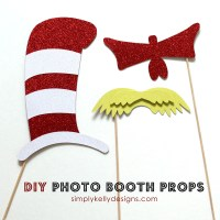 DIY Dr. Seuss Photo Booth Props and Silhouette Portrait Giveaway