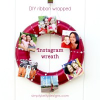 DIY Ribbon Wrapped Instagram Wreath