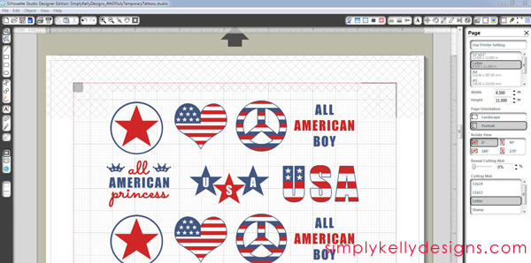 How To Create DIY Temporary Tattoos by Simply Kelly Designs #temporarytattoos #patriotic #USA #4thofJuly