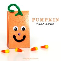 Pumpkin Treat Boxes