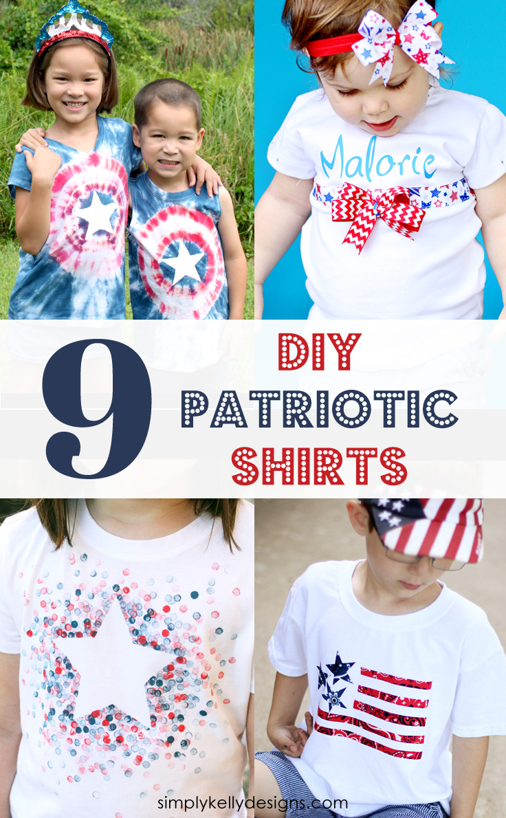 9 Creative DIY Patriotic Shirts