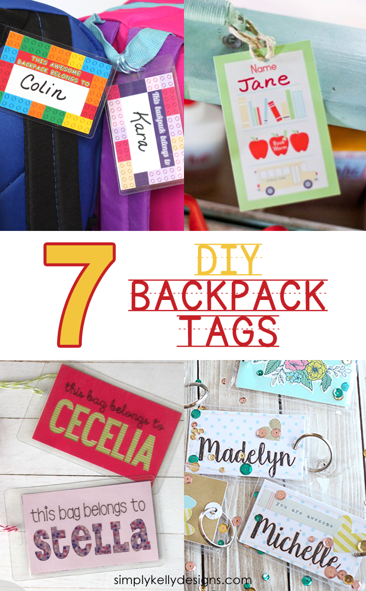 7 Easy DIY Backpack Tags For Back To School