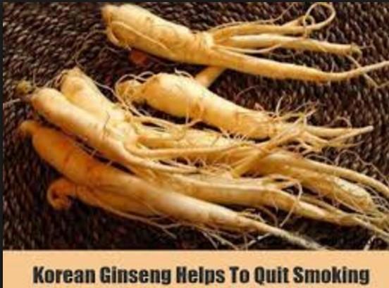 Ginseng To Stop Smoking