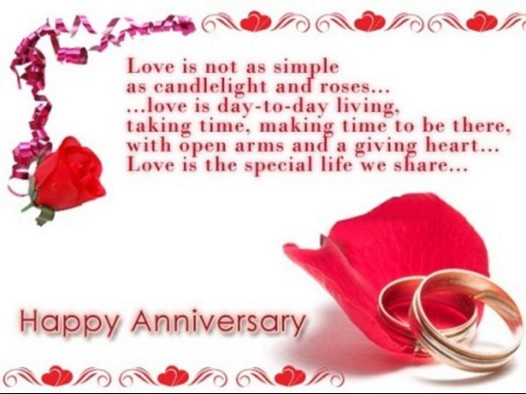 sweet quote with ring image for anniversary