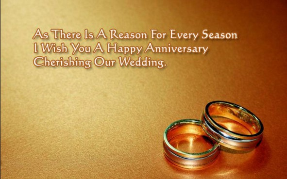 happy marriage anniversery wishes with rings