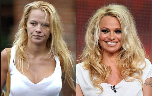 Pamela Anderson without make up