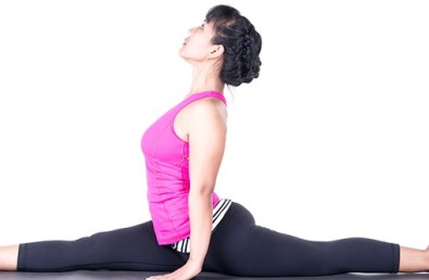 Straddle Pose To Increase Stamina
