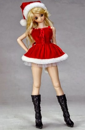 beautiful barbie doll in santa clauses dress hd wall paper