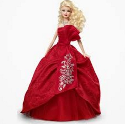cutest barbie doll in red gown hd wall paper