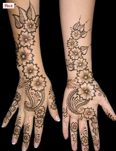 Flower shades mehndi design
