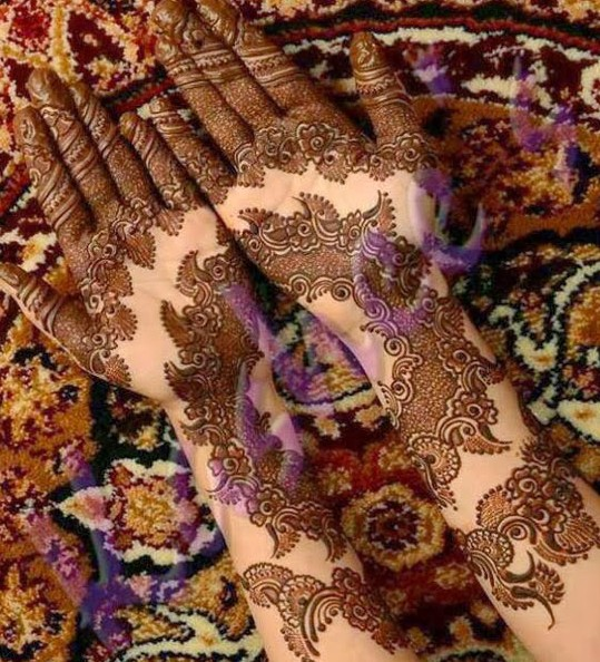 Mehndi Designs For Engagement : Top bridal mehndi designs for full hands front and back