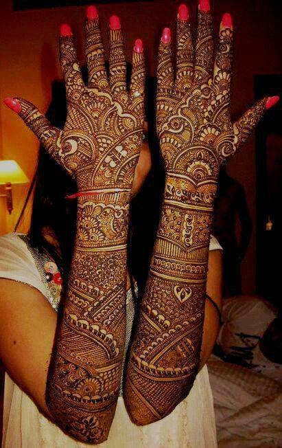 Mehndi For Back Side : Top bridal mehndi designs for full hands front and back
