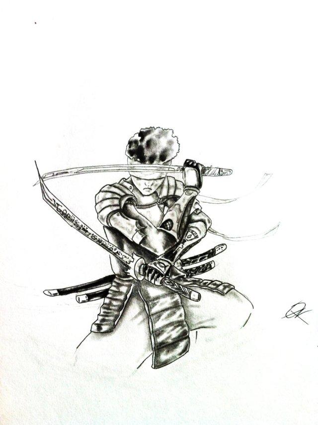 Blind Samurai Warrior Tattoo